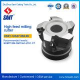 O cortador de trituração elevado Indexable Xk01.12A22.063.05 da alimentação do CNC recomenda o código Xmr01-063-A22-SD12-05 de Zccct