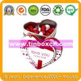 Het hart-gevormde Tin van het Suikergoed voor Huwelijk, de Doos van het Tin van de Gift
