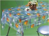 El nuevo diseño impreso modela la fábrica transparente del mantel del PVC (TJ0098)