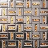Wand-Glasmosaik-Fliese für Küche, Badezimmer (FY231B)