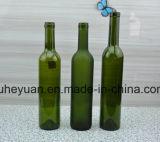 frasco de vinho do vermelho do vidro geado do verde 500ml