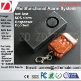 Sistema de alarme do sensor da vibração com telecontrole do RF
