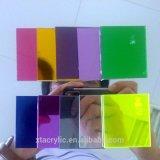 Hoja de plástico acrílico de espejo con el informe de SGS