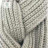 熱い販売のピグテールのねじれの方法によって編まれる無限スカーフの首のウォーマー