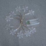 Indicatore luminoso decorativo a forma di del fiocco di neve di plastica LED (26-1P1611)
