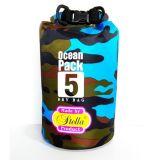 Droge Zak van pvc van de Zak van het Geteerde zeildoek van pvc van de camouflage 500d de Waterdichte