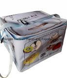 Изготовленный на заказ цветастый выдвиженческий изолированный Non сплетенный мешок охладителя обеда