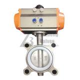 Клапан-бабочка выровнянная резиной вафли нержавеющей стали D371X D71X D671X D971X
