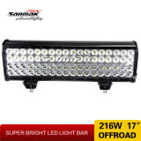 "Sanmak 17"" Iluminación 216W LED super brillante campo a través de barra de luces"