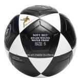 Deflatableの強い白黒革フットボール