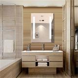 Espelho iluminado diodo emissor de luz do banheiro da almofada de Defogger do luminoso do hotel