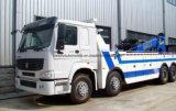 30t Vrachtwagen van het Wrak van Sinotruk van de Vrachtwagen van de Redding van de weg de Op zwaar werk berekende