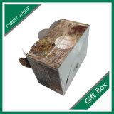 Boîte à provisions en papier jetable avec poignée