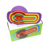 Cuchara dosificadora plástica del color de la categoría alimenticia DIY con las cucharillas de 6 pedazos que cuecen al horno las herramientas