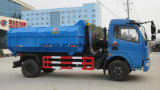 Camion d'évacuation des déchets d'ordures de conteneur de Dongfeng 6ton Detechable