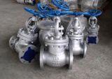Robinet d'arrêt sphérique matériel Wcb de corps normal d'acier inoxydable de norme ANSI