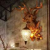 Indicatore luminoso antico della parete della lampada da parete della decorazione della casa di figura degli alci di stile