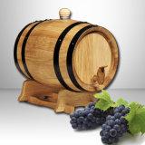 5L, 10L, 225L personalizzano il barilotto di vino di legno della cremagliera del vino della visualizzazione della cremagliera del barilotto di legno della quercia