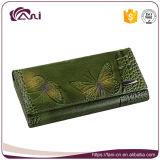 Бумажники Fani самые последние изготовленный на заказ напечатанные с выбитой бабочкой, бумажником женщин неподдельной кожи