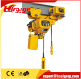 1 Ton Lifting Equipment talha elétrica de corrente com Trolley