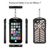 Caja impermeable colorida del teléfono móvil de la araña para el iPhone 7