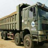 Caminhão de descarga usado pesado original do verde HOWO da maquinaria do equipamento de construção sino para a venda