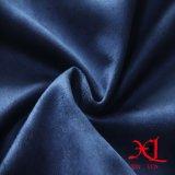 Um lado tecido de camurça de poliéster escovado azul para sofá