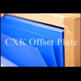 Голубые плиты восходящего потока теплого воздуха CTP офсетной печати цвета