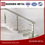 Muebles de exterior e interior Balaustrada de pasamanos de cerca de escaleras Orientada a la calidad del fabricante