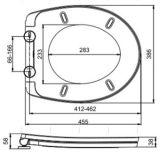 Runder preiswerter länglicher pp.-europäischer Standard-Arbeitskarte-Weiche-Abschluss-Toiletten-Sitzdeckel