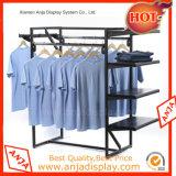 Metall-Kleidungs-Bildschirmanzeige-Zahnstangen-Kleidungs-Standplätze