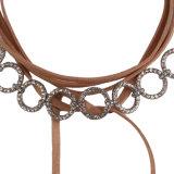 Monili lunghi di cristallo della collana del Choker della nappa del multi di strato di modo dell'unità di elaborazione diamante del progettista