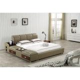 침실 사용 (FB8048B)를 위한 백색 색깔 가죽 침대