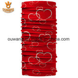 O vermelho tubular do lenço do poliéster ao ar livre mágico ostenta o Bandana