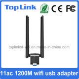 USB 3.0 11AC удваивает карточка беспроводной сети 1200Mbps полосы 2t2r высокоскоростная с складной антенной