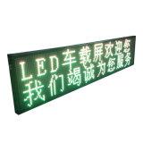 O único texto ao ar livre do diodo emissor de luz do amarelo anuncia o módulo do quadro de avisos da tela de indicador