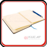 昇進のギフトペンのシャクトリムシが付いている最上質のSmythによって縫われる結合PUのノート