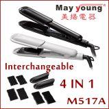 Preço de fábrica 3 em 1 do cabelo Titanium do Straightener do cabelo de Styler do cabelo ferro liso