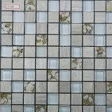 Azulejos de piedra de cristal de la pared del cuarto de baño de la cocina de la decoración de los azulejos de los azulejos de mosaico