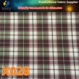 Mercancías pronto, verificación del poliester/tela de la tela escocesa, tela tejida (X028-30)