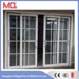 Puerta deslizante triple de aluminio del balcón de cristal
