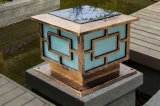 Venta de la lámpara solar cobriza del jardín del OEM Suqare LED 3W del campeón con la certificación del Ce