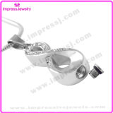 Infinite Love Charm Crystal Cremation Bijoux Collier Urne pour Cendres