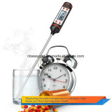 Thermomètre à la viande, Airsspu Inoxydable à l'instant lu Thermomètre à cuisson numérique pour l'alimentation, la viande, les bonbons et l'eau de bain à longue sonde, écran LCD