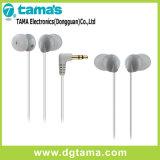3.5mm Weiß-Stecker InOhr Stereokopfhörer mit dem 1.2m Kabel