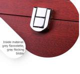 Contenitore di regalo rigido di Storaging di stampa del vino di legno rosso del MDF