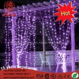 Cortina de LED de luz de pared de cuerda para la decoración