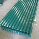 hoja de acero galvanizada PPGI acanalada 1050mm/840m m del material para techos