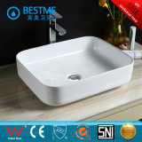 New Model Ceramic Counter Top Art Basin em forma oval