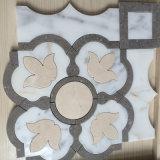 Mosaico de mármol Waterjet de la frontera de mármol del modelo para el cuarto de baño